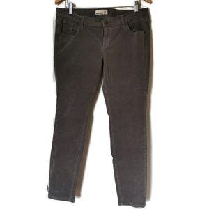 Grey Corduroy Skinny Pants Old Navy 16
